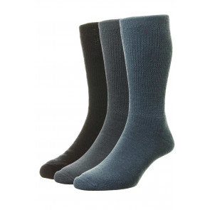 3-Pairs - Diabetic WOOL Socks - HJ1352/3PK - (UK 6-11)