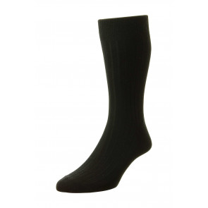 Executive Classic Rib - Cotton Rich Socks - HJ111