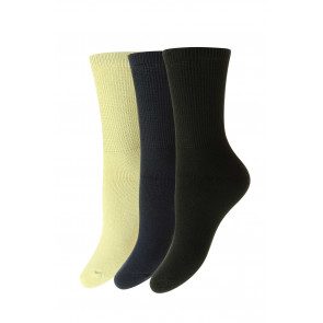 3-Pairs - Diabetic COTTON Socks - HJ1351L/3PK - Ladies