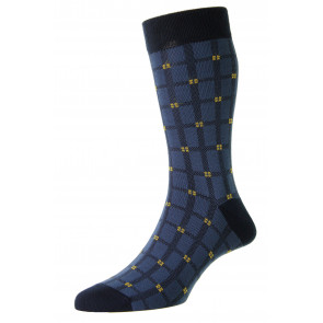 Elmfield -  Bamboo Windowpane - Luxury Men's Sock - HJ6531