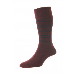 Men's Stripe Wool Softop® Socks - HJ986