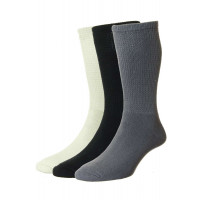3-Pairs - Diabetic COTTON Socks - HJ1351/3PK - (UK 6-11)