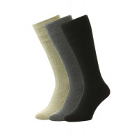 3-Pairs - Softop® Mid Calf WOOL Rich - HJ98/3PK - (6-11)