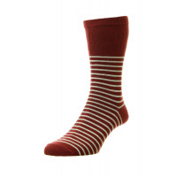 Men's Stripe Cotton Softop® Socks - HJ939